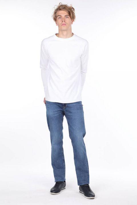 Мужские джинсовые брюки с широкими штанинами