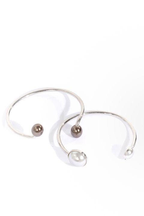 Women's 2-pack Silver Looking Bracelet