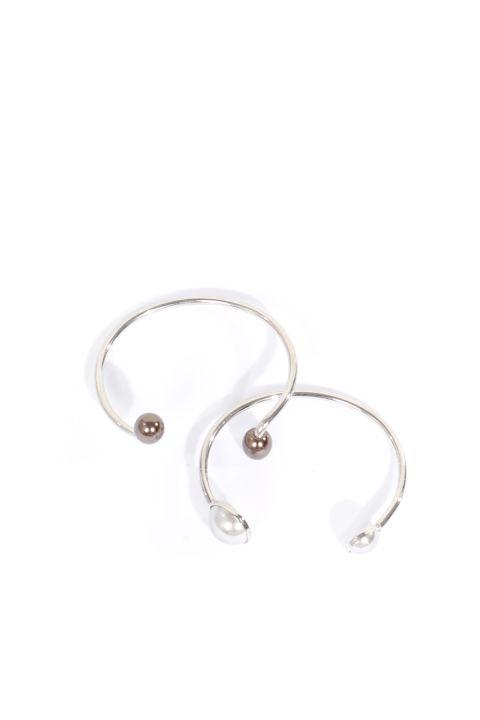 Женский браслет из двух серебряных браслетов в упаковке