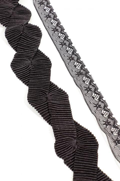 Женское колье-чокер из двух частей из тюля