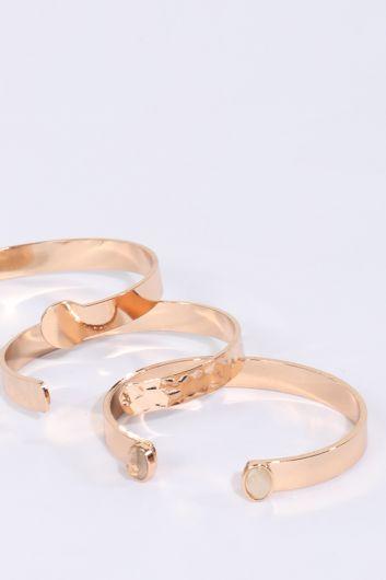 MARKAPIA WOMAN - سوار ذهبي نسائي مكون من 3 عبوات (1)