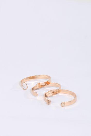 Women's 3-pack Gold Bracelet - Thumbnail