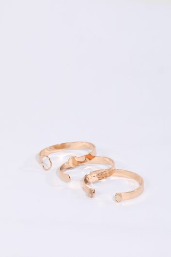 Женский золотой браслет, 3 пары - Thumbnail