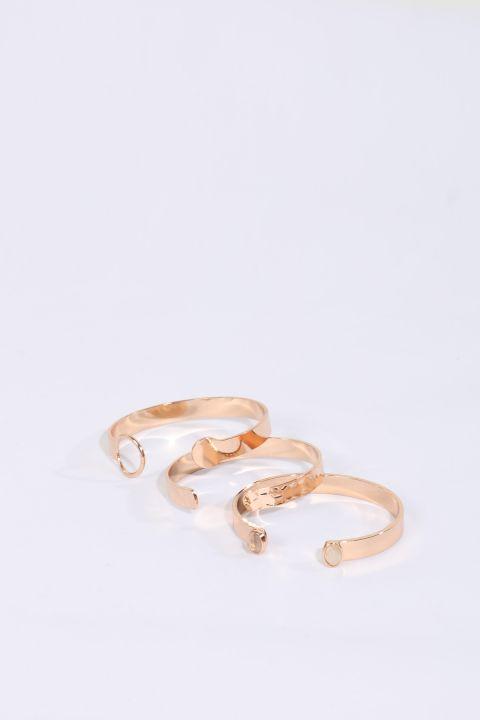 Женский золотой браслет, 3 пары