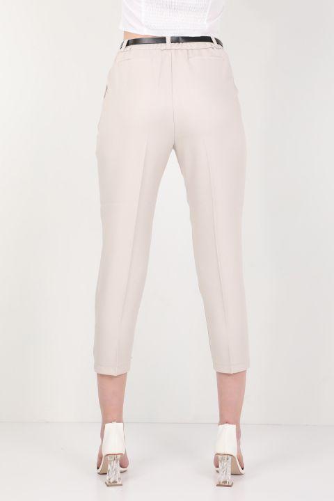 Женские брюки из ткани с поясом Stone