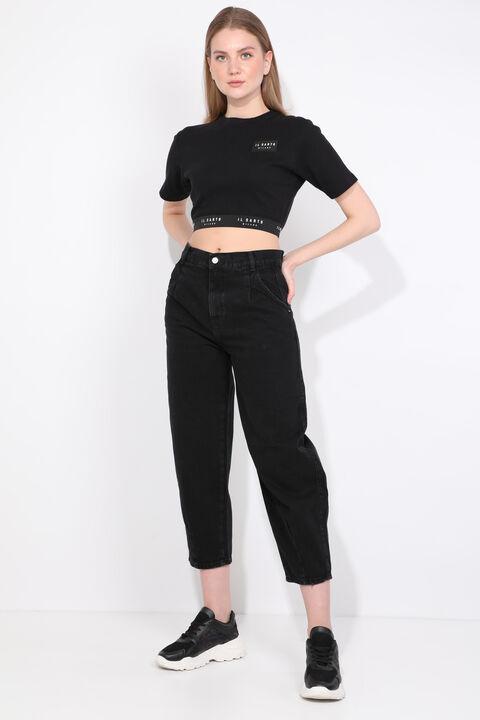Женские черные джинсы с воздушными шарами