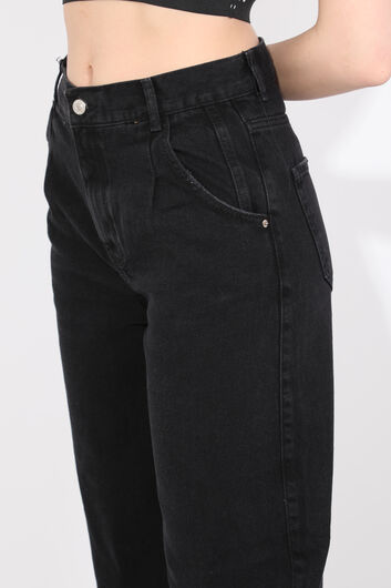 Женские черные джинсы с воздушными шарами - Thumbnail