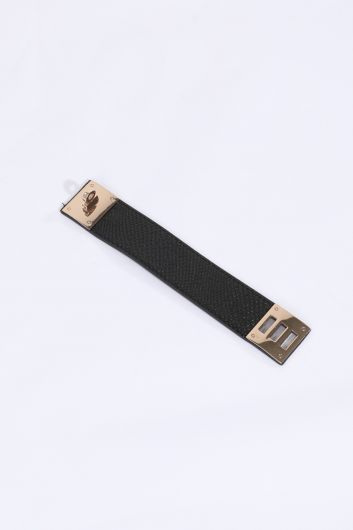 Women's Black Belt Bracelet - Thumbnail