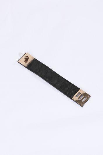 Женский браслет с черным поясом - Thumbnail