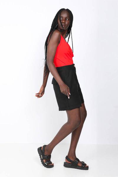 MARKAPIA WOMAN - Женские черные шорты-бермуды (1)