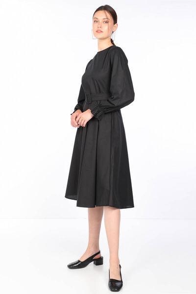 MARKAPIA WOMAN - Женское черное расклешенное платье (1)