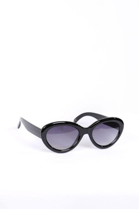 Женские черные овальные солнцезащитные очки