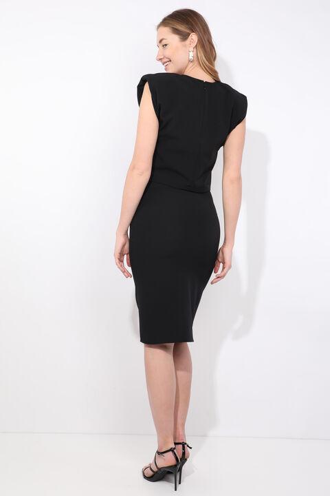 Women's Black Padded Skirt Blouse Set