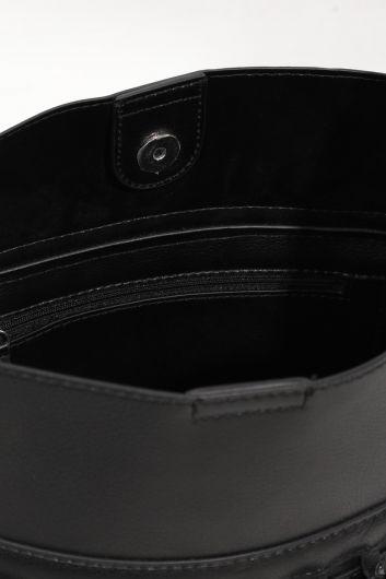 حقيبة يدنسائية جلدية سوداءاللون - Thumbnail