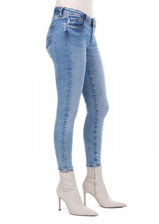 بنطلون جينز أزرق نسائي من Skınny Fit