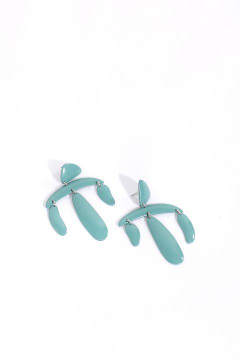 Женские синие серьги с подвесками