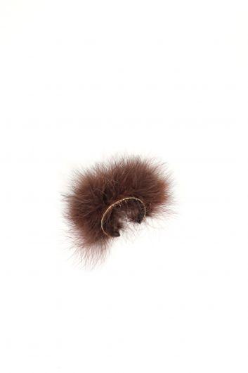 MARKAPIA WOMAN - Женский коричневый браслет с перьями (1)