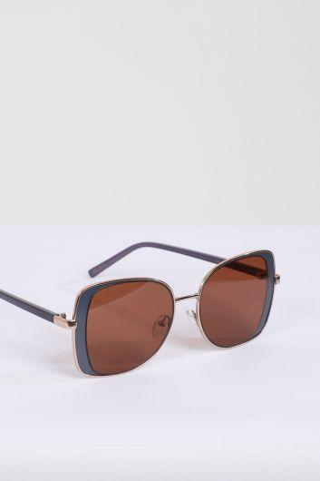 MARKAPIA WOMAN - Женские солнцезащитные очки в тонкой оправе кофейного цвета (1)