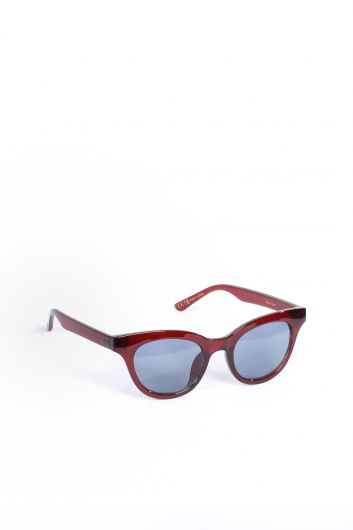 MARKAPIA WOMAN - Women's Burgundy Oval Sunglasses (1)