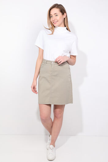 Women's Ages Green Jean Skirt - Thumbnail