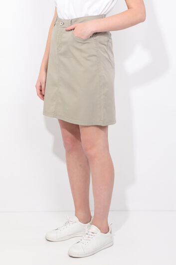 BLUE WHITE - Зеленая джинсовая юбка для женщин (1)