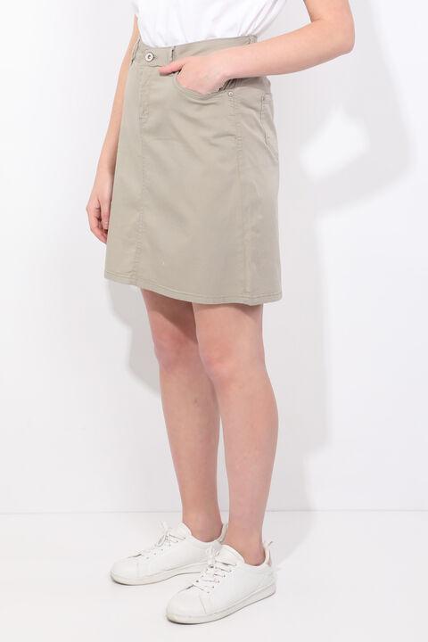 Зеленая джинсовая юбка для женщин