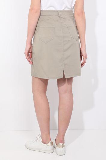 Зеленая джинсовая юбка для женщин - Thumbnail