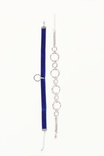Women's Combination Choker Necklace - Thumbnail