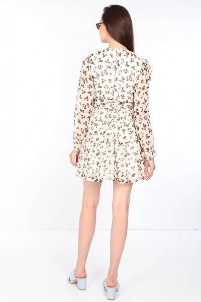 MARKAPIA WOMAN - فستان شيفون مزخرف ملون للسيدات Ecru (1)
