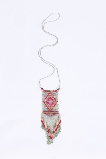 Women's Colorful Crystal Beaded Necklace - Thumbnail