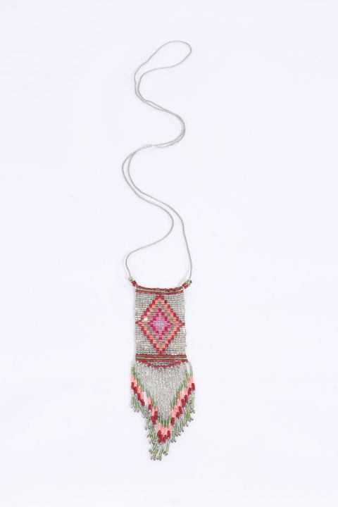 Women's Colorful Crystal Beaded Necklace