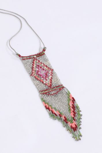 MARKAPIA WOMAN - Women's Colorful Crystal Beaded Necklace (1)