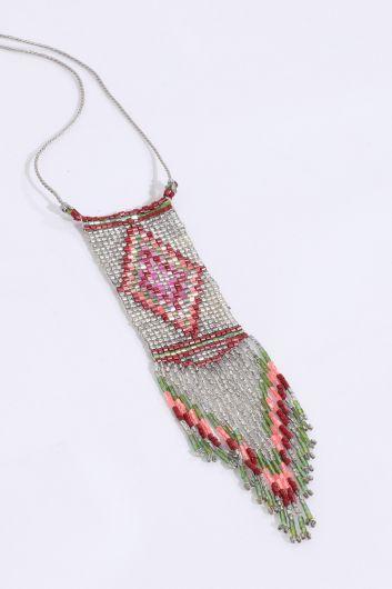 MARKAPIA WOMAN - Женское красочное ожерелье из бисера с кристаллами (1)