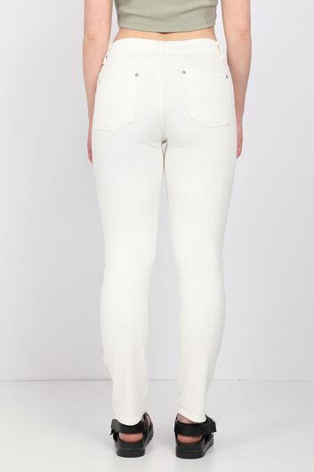 MARKAPIA WOMAN - Women Ecru Slim Fit Jean Trousers (1)