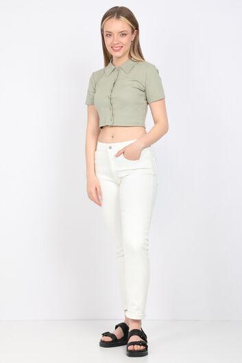 Женские джинсовые брюки Ecru Slim Fit - Thumbnail