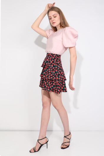 MARKAPIA WOMAN - Женская многослойная юбка с цветочным принтом и оборками (1)