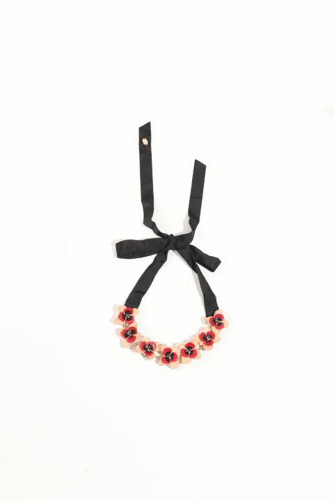 Женское колье с цветочным принтом