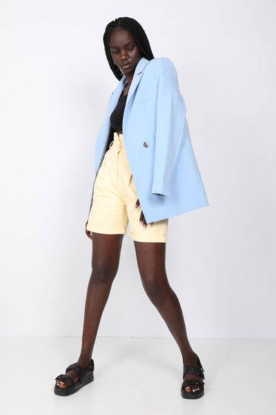 MARKAPIA WOMAN - Women's Gabardine Shorts Cantaloupe (1)