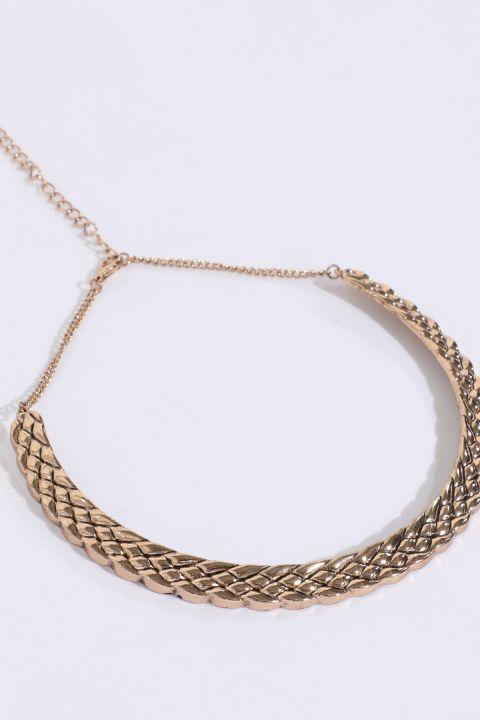 Women's Gold Crescent Necklace