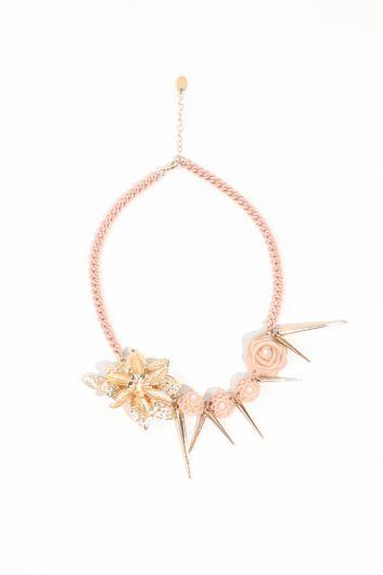 Женское золотое ожерелье-цепочка с пудрой - Thumbnail