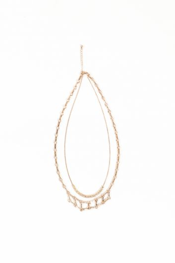 MARKAPIA WOMAN - Women's Gold Double Chain Pendant Necklace (1)