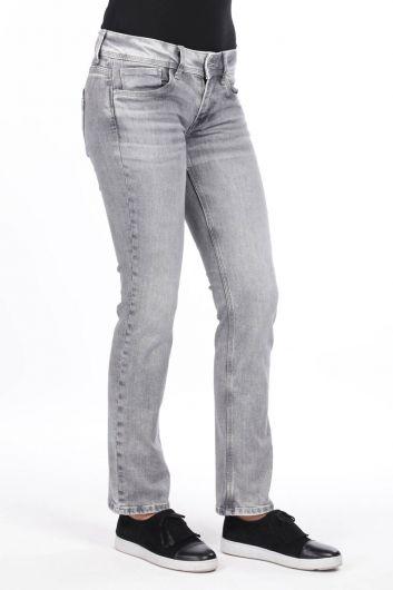 MARKAPIA WOMAN - Женские серые джинсовые брюки с заниженной талией (1)