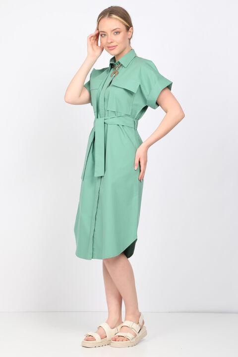 Women's Green Poplin Dress