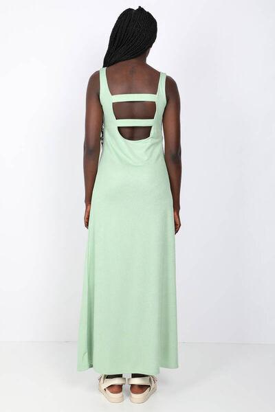 MARKAPIA WOMAN - Women's Green Strapless Backless Maxi Dress (1)