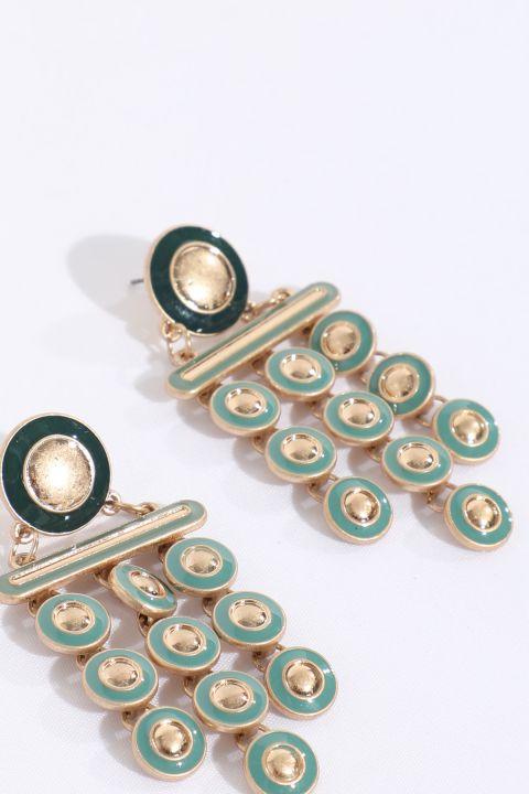 Women's Green Dangle Earrings