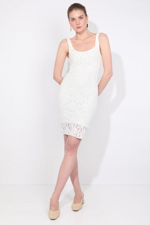 Женское кружевное платье с ремешками