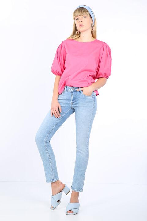 Женские джинсовые брюки Ice Blue с детализированным карманом
