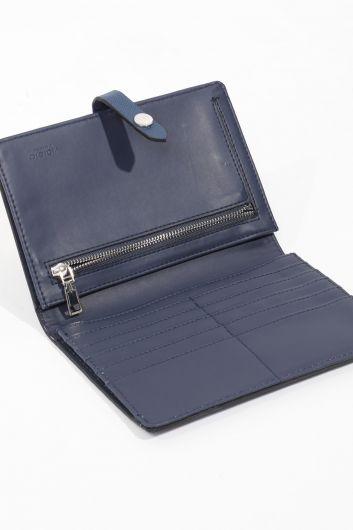 Женский кошелек большого размера индиго - Thumbnail