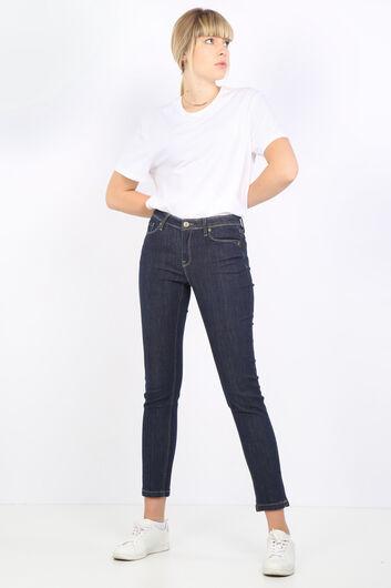 Women's Indigo Straight Jean Trousers - Thumbnail
