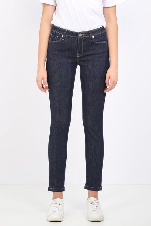 Женские прямые джинсовые брюки цвета индиго